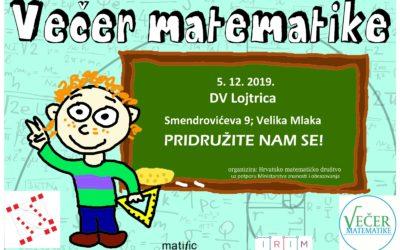 Večer matematike 2019